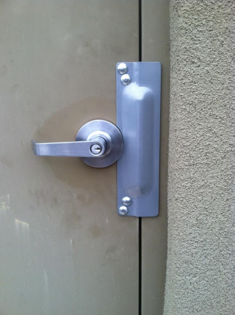 Nice Clutched Entry Lever With Latch Guard U2013 After ACME Installation