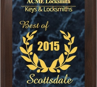 Congratulations to ACME Locksmith's Scottsdale Lock & Key Shop!