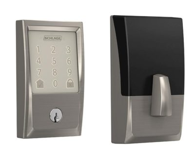 schlage encode satin nickel century both sides